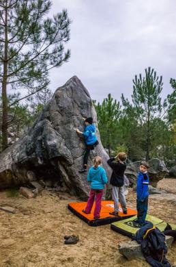 Bouldern Fontainebleau Rocher Fin