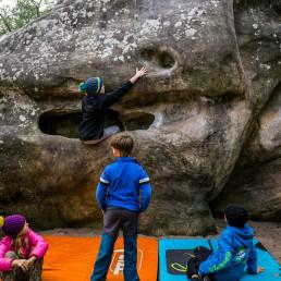 Bouldern Fontainebleau Elephant
