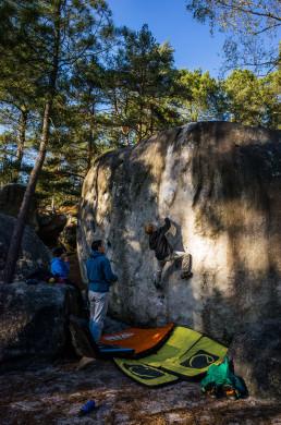 Bouldern Fontainebleau Elephant Le Cœur