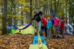 Camping La Musardiere Fontainebleau Slackline