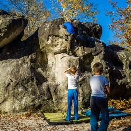 Bouldern Fontainebleau Cul de Chien