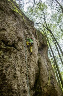 Klettern Elfenwelt Frankenjura Mondsichel