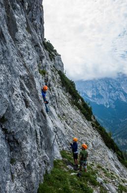 Klettern Vorderkaiserfeldenhütte Steingrubenschneid