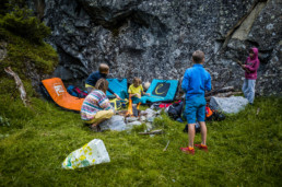Bouldern im Sundergrund Biwak