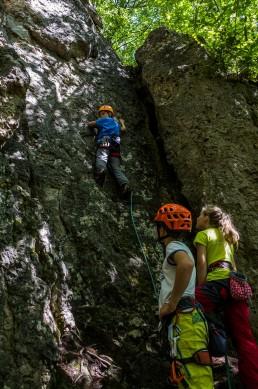 Klettern Oma Eichler Frankenjura Haselstaudener Wände Herbstweg