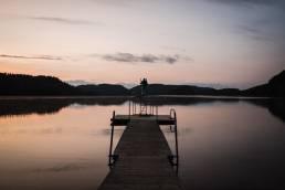 Sprungturm See Sonnenuntergang