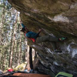 Bouldern Ginzling Links ausn