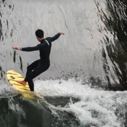 Surfen München Floßlände