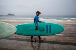 Surfing Zarautz